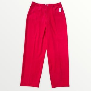 TALBOT'S Petite Microfiber Straight Leg Relaxed Fit Pants